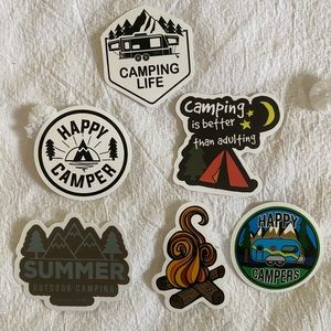 Happy Camper Sticker Pack